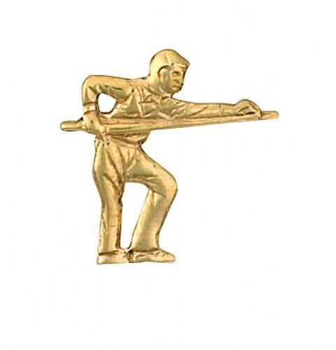 Snooker Player Tie Tack Tie Pin Gold Made To Order in Jewellery Quarter B''ham